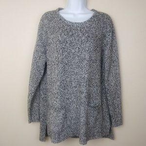 J. Jill Knitted Gray Black Sweater Women's Size M